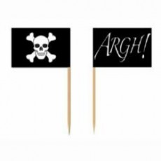 Pirate Flag Party Picks 6cm Pack of 50