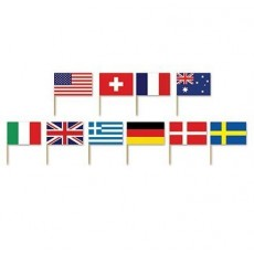 International Party Supplies - Party Picks Flags