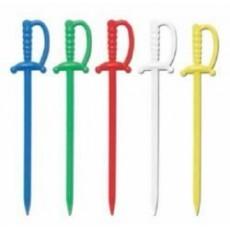 Multi Colour ed Plastic Sword Party Picks