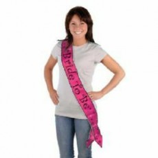 Bridal Shower Bride To Be Satin Sash Costume Accessorie
