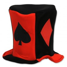 Casino Night Card Suits Fabric Hat Head Accessorie