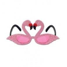 Hawaiian Flamingos Fanci Frames Glasses Costume Accessorie