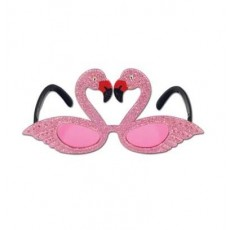 Hawaiian Luau Flamingos Fanci Frames Glasses Costume Accessorie
