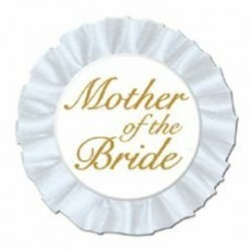 Bridal Shower Mother Of The Bride Satin Button Costume Accessorie