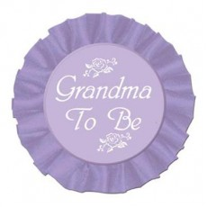 Baby Shower - General Grandma To Be Satin Button Costume Accessorie