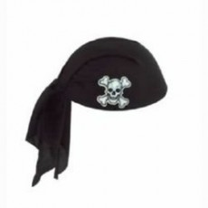 Pirate's Treasure Black Pirate Scarf Hat Costume Accessorie