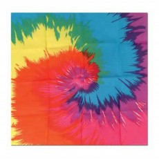 Feeling Groovy & 60's Party Supplies - Funky Tie-Dyed Bandana