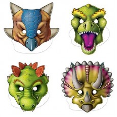 Dinosaur Assorted Designs Party Masks