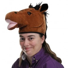 Horse Racing Plush Horse Head Hat Head Accessorie