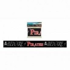 Pirate's Treasure Beware of Pirates Party Tape