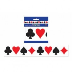 Casino Night Card Suits Decorating Party Tape