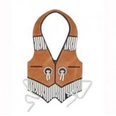 Cowboy & Western Brown Western Plastic Vest Costume Accessorie