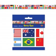 International Flags Party Tape