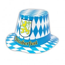 Oktoberfest Cardboard Top Hat Head Accessorie