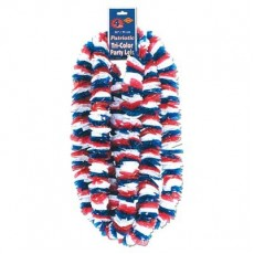 USA Red, White & Blue Patriotic Soft Twist Poly Plastic Leis Costume Accessories