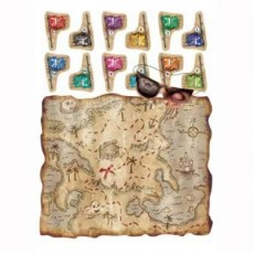 Pirate's Treasure Treasure Map Party Game