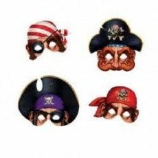 Pirate's Treasure Assorted Party Masks Pack of 4