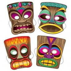 Hawaiian Tiki Party Masks