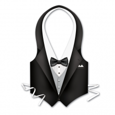 Hollywood Plastic Tuxedo Vest Adult Costume