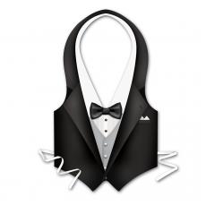 Hollywood Plastic Tuxedo Vest Men Costume
