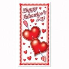 Happy Valentine's Day Door Decoration 76cm x 152cm