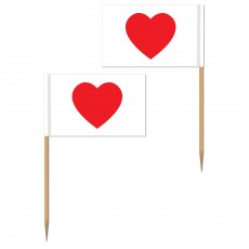 Love Heart Paper Party Picks
