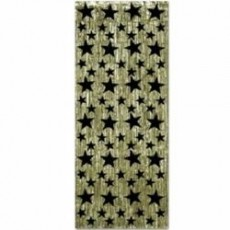 Hollywood Gold Curtain with Black Stars Misc Decoration