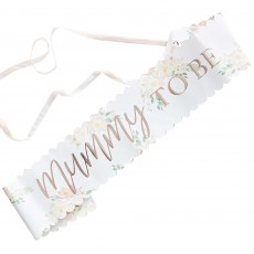 Baby in Bloom Costume Accessory - Sash Mummy To Be