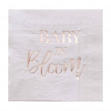 Baby in Bloom Party Supplies - Lunch Napkins