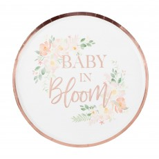 Baby in Bloom Party Supplies - Dinner Plates