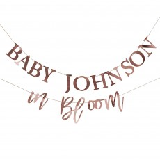 Baby in Bloom Party Decorations - Banner