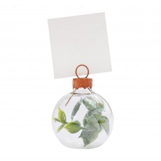 Wedding Botanical  Eucalyptus Bauble Place Card Holder Misc Accessories