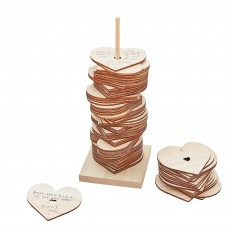 Wedding Party Supplies - Botanical Wedding Guest Book Stacking Heart