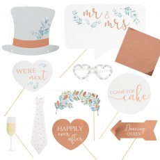 Botanical Wedding Booth Photo Props Pack of 10