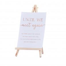 Wedding Party Supplies - Botanical Wedding Easel Commemorative Sign
