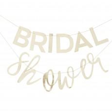 Bridal Shower Gold Botanical Bunting Banner 2m