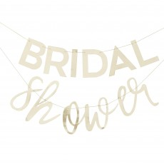 Bridal Shower Gold Botanical Bunting Banner
