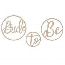 Bridal Shower Gold Botanical Wooden Hoops Misc Decoration