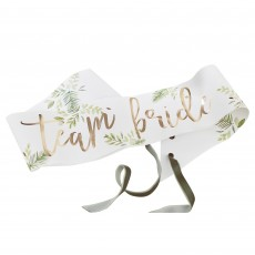 Bridal Shower Gold Botanical Sashes Costume Accessories