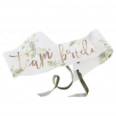 Bridal Shower Party Supplies - Gold Botanical Sashes
