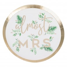 Bridal Shower Gold Botanical Dinner Plates