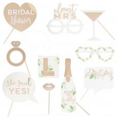 Bridal Shower Gold Botanical Photo Props Pack of 10