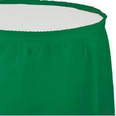 Emerald Green Plastic Table Skirt 74cm x 4.26m