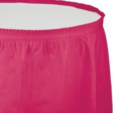 Magenta Hot Plastic Table Skirt
