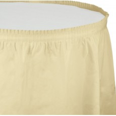 Ivory Plastic Table Skirt