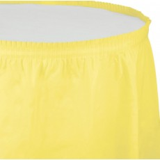 Yellow Mimosa Plastic Table Skirt