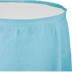Blue Pastel Plastic Table Skirt