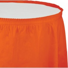 Orange Sunkissed Plastic Table Skirt