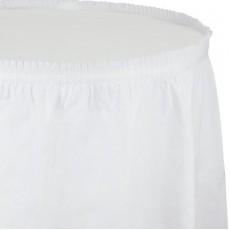 White Plastic Table Skirt 74cm x 4.26m