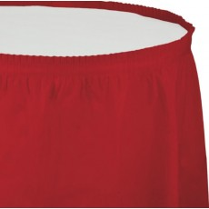 Red Classic  Table Skirt